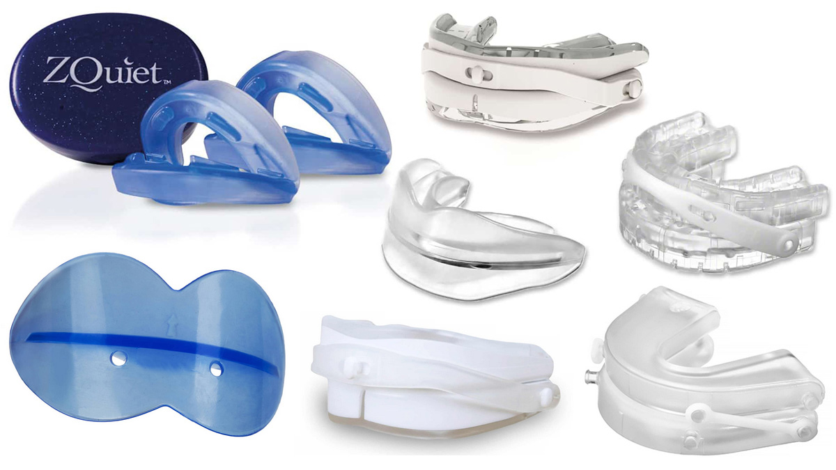 Mandibular advancement devices for snoring