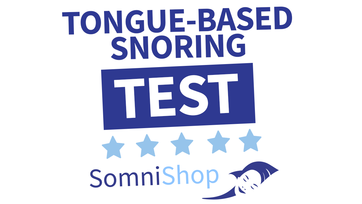Tongue-based snoring test
