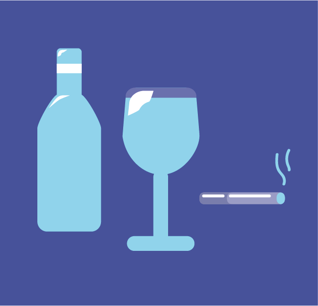 Alcohol smoking and snoring